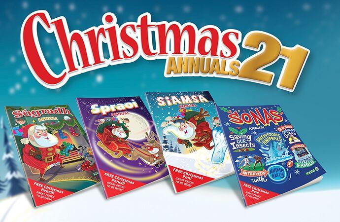 Folens Christmas Annuals 2021 | Sugradh, Spraoi, Siamsa & Sonas | Order today!