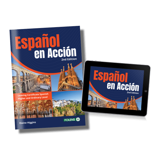 Espanol en action, 2nd edition leaving cert Spanish school book from folens