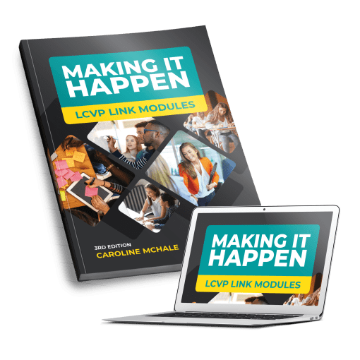 Making it Happen Folens LCVP modules school book by Caroline McHale