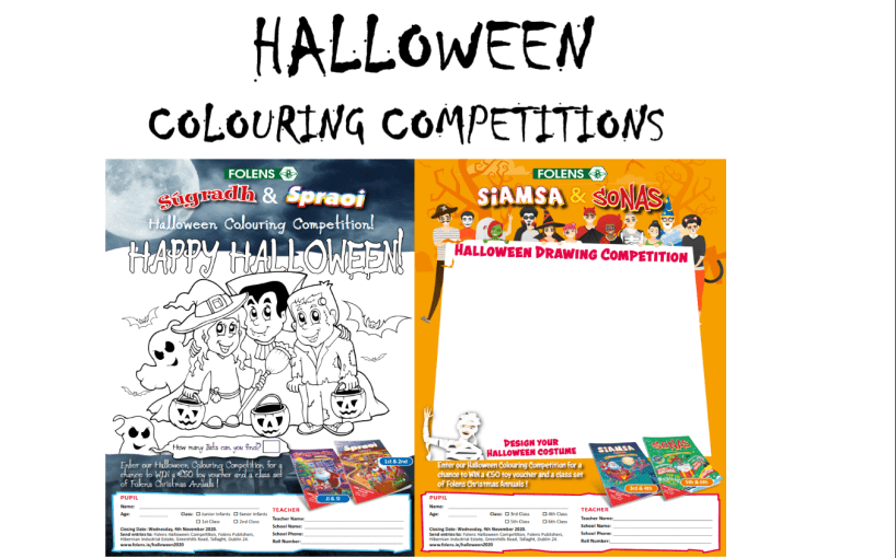 Folens Halloween Competition 2020 - Colouring & Drawing PDFs